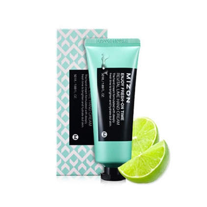 MIZON Enjoy Fresh-On Time Revital Lime Hand Cream ( krem do rąk głęboko nawilżający, limonkowy) 50ml