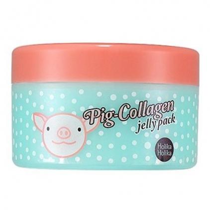HOLIKA HOLIKA Pig-Collagen jelly pack (maseczka do twarzy wygładzająco-nawilżająca z kolagenem i złotem) 80ml