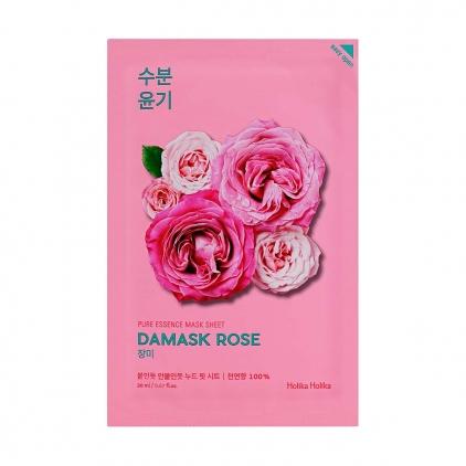 HOLIKA HOLIKA Pure Essence Mask Sheet Damask Rose (maseczka nawilżająco-rozświetlająca z ekstraktem z róży) 20ml