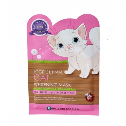 SAMSUNG/Belleza Castillo Edge Cutimal CAT WHITENING Mask (maska rozjaśniająca KOT w płachcie) 25g)
