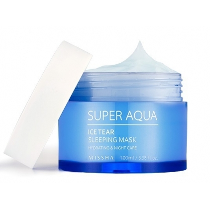 MISSHA SUPER AQUA ICE TEAR Sleeping Mask (nawilżająca maska nocna) 100ml