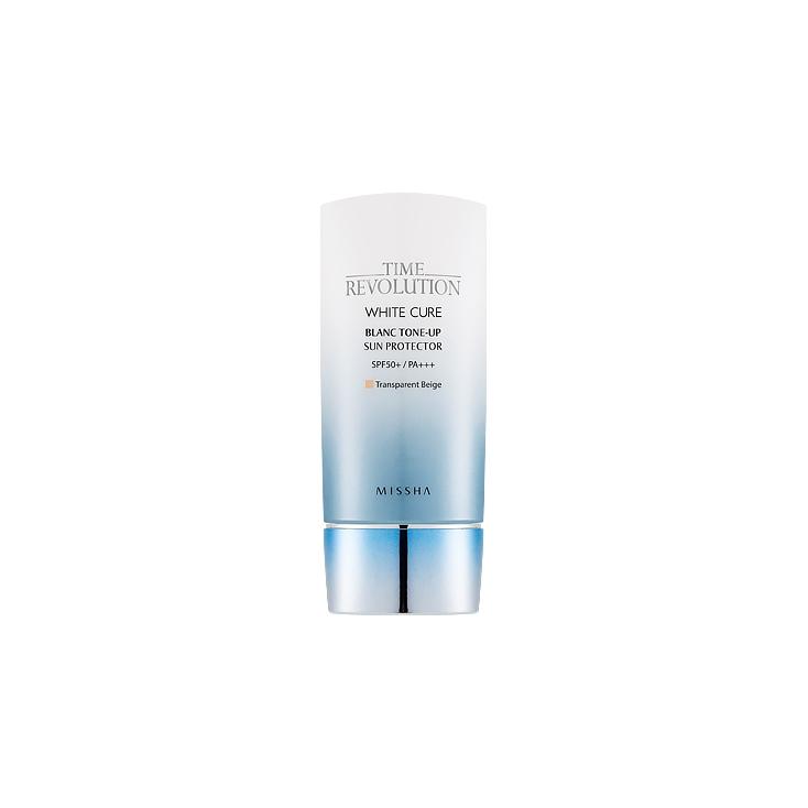 MISSHA Time Revolution WHITE CURE Blanc Tone-up Sun Protector SPF50+/PA+++ (krem ochronny wyrównujący pignentację skóry) 50ml