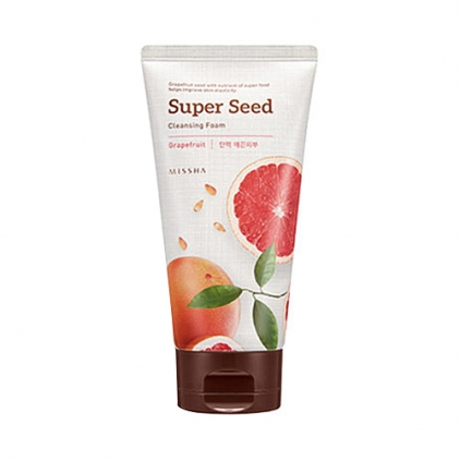 MISSHA Super Seed Cleansing Foam Grapefruit (ujędrniająco-nawilżająca pianka do mycia twarzy na bazie grejpfruta) 150ml